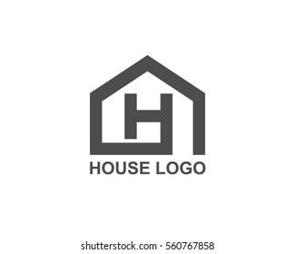 Letter H House logo vector