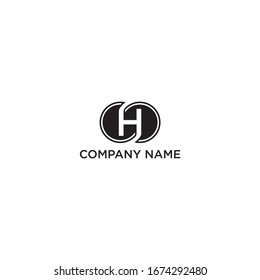 letter H inside the design logo circle