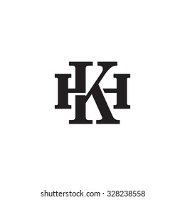 letter H and K monogram logo