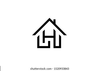 Letter H LH HL in vector for Real Estate , Property and Construction Logo design for business corporate sign. Minimal logo design template on white background.
