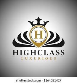 Letter H Logo - Classic Luxurious Style Logo Template