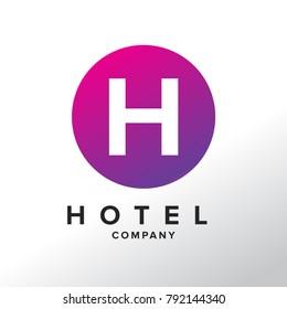 Letter H Logo. H Letter Design Vector with Circle.