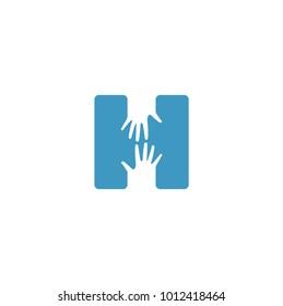 Letter H Logo Hand
