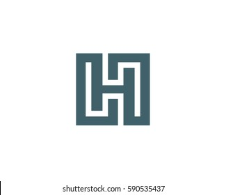 Letter H logo icon design template elements. Abstract vector icon.