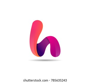 letter H logo icon. vector illustration template.