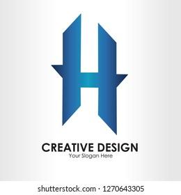 Letter H Logo Template Design Vector, Emblem, Concept Design, Creative Symbol, Icon - Vector