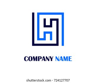 Letter H logo template design