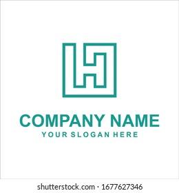 letter H logo vector design
