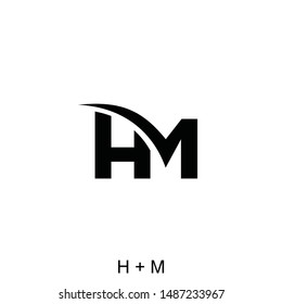 letter H and M concept ready to use