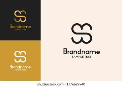 Letter H on Negative Space Design Concept, Elegant And Luxury Logo.
