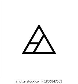 letter HA logo design vector sign