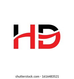 letter HD Logo Design Linked Vector Template With Red And Black. Initial HD Vector Illustration