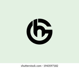 letter hg and gh logo design vector template