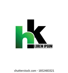 Letter HK simple logo design vector