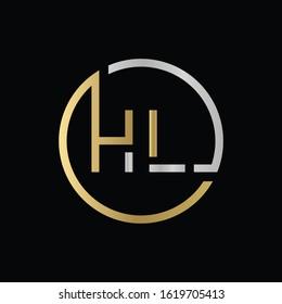 letter HL Logo Design Vector Template. Initial HL Letter Design Vector Illustration