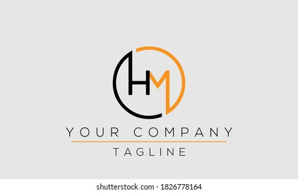 Letter HM Logo Design, Creative Modern Icon MH H M