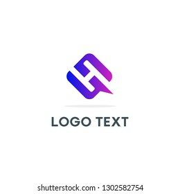 Letter HQ or H and Q logo icon design template elements