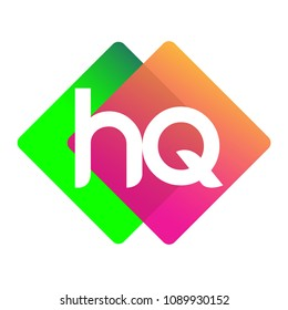 Letter HQ logo with colorful geometric shape, letter combination logo design for creative industry, web, business and company.