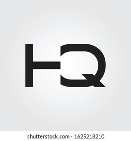 letter HQ Logo Design Vector Template. Initial Linked Letter Design HQ Vector Illustration