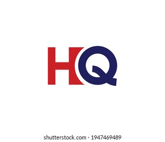 letter hq and qh logo design vector template