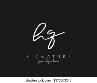 Letter HQ Signature Logo Template - Vector