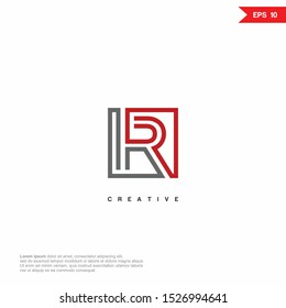 Letter HR, RH modern Logo icon monogram design. Vector graphic design template element.