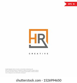 Letter HR, RH modern Logo icon monogram design. Vector graphic design template element. eps10