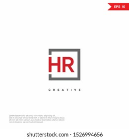 Letter HR, RH simple modern Logo icon monogram design. Vector graphic design template element.