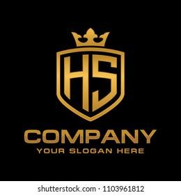 Letter HS initial logo, Luxury logo design vector
