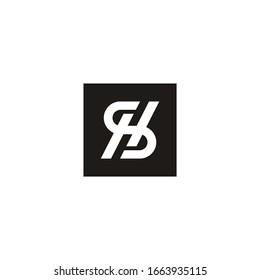 Letter HS, SH logo Template Vector