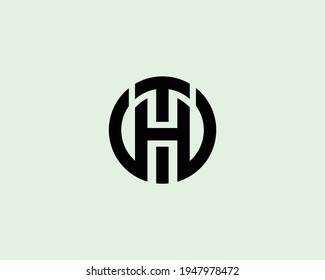 letter ht and th logo design vector template