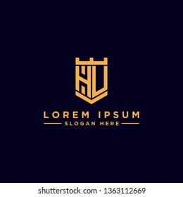 Letter HU Monogram initial icon / logo design inspiration. - vector