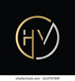 letter HV Logo Design Vector Template. Initial HV Letter Design Vector Illustration
