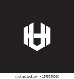 letter hv simple hexagonal geometric symbol logo vector