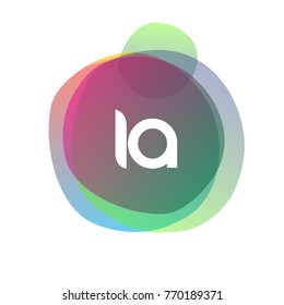 Letter IA logo with colorful splash background, letter combination logo design for creative industry, web, business and company.