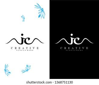 letter ic/ci creative logo design vector