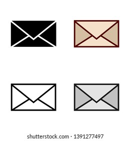 Letter Icon in Different Color and Style