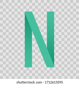 Letter icon. Graphic template. Vector illustration