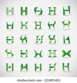 Letter Icons Set - Isolated On Gray Background - Vector Illustration, Graphic Design Editable For Your Design
