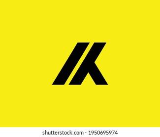 letter ik and ki logo design vector template