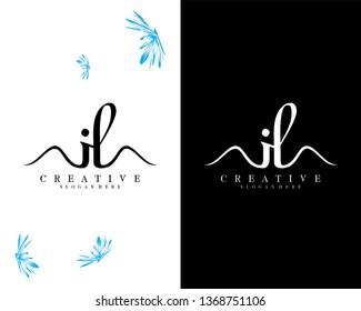 letter il/li creative logo design vector