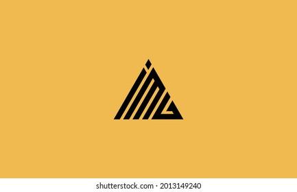 Letter IMG monogram logo design symbol vector template