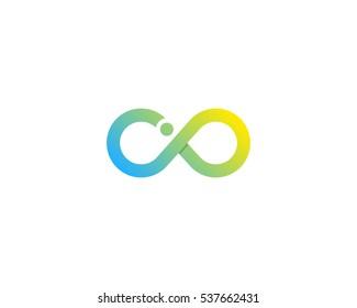 Letter I Infinity Logo Design Template Element