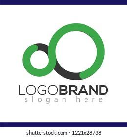 Letter Infinity logo vector element. Letter logo template