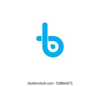 Letter Initial B Simple Logo Design Template