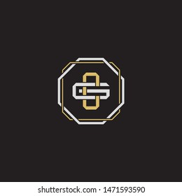 Cg Letter Gold Color Logo Images, Stock Photos & Vectors