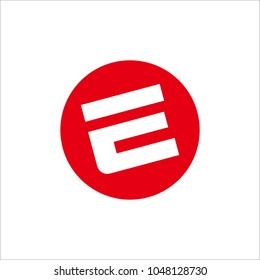 Letter Initial E Logo Design Template