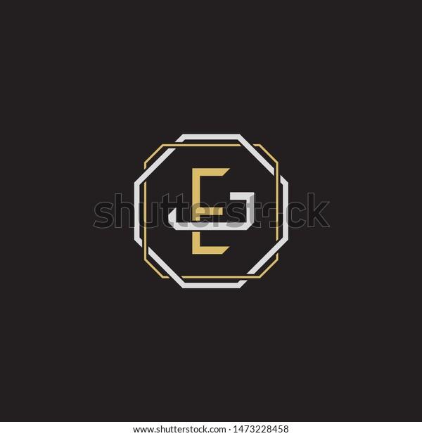 Letter Initial Ej E J Je Stock Vector Royalty Free 1473228458