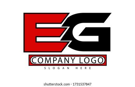 EG letter initial logo vector illustration.