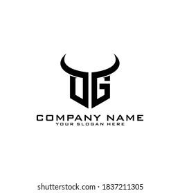 Letter Initial OG logo icon design template.